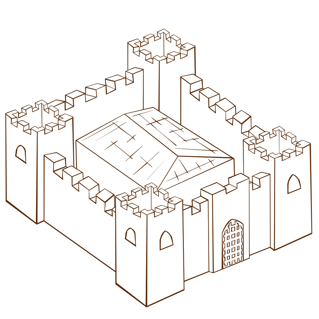 Ugly Non Perspective Cartoony Fort Fortress Stronghold Or Castle SVG Clip arts