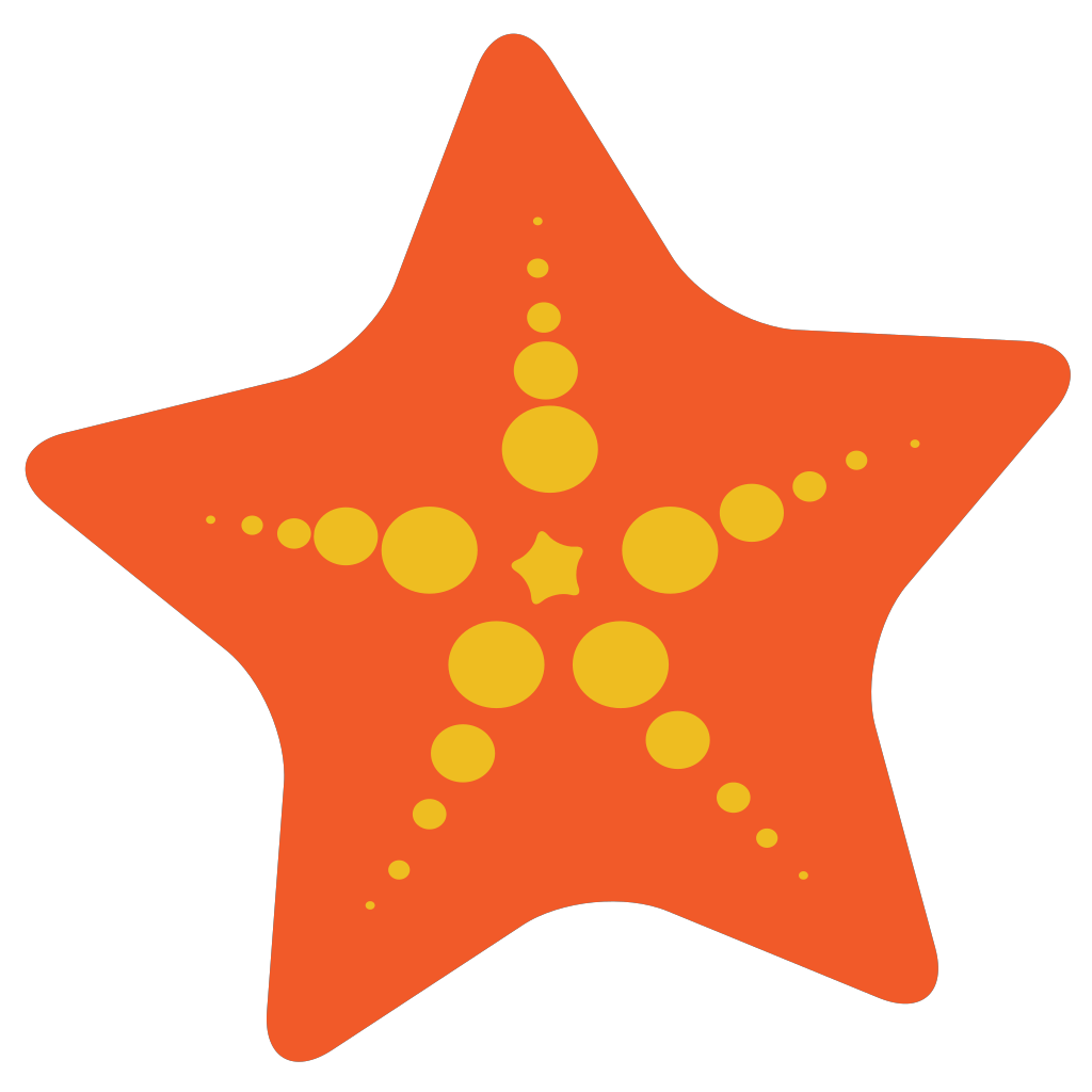 Starfish Label SVG Clip arts