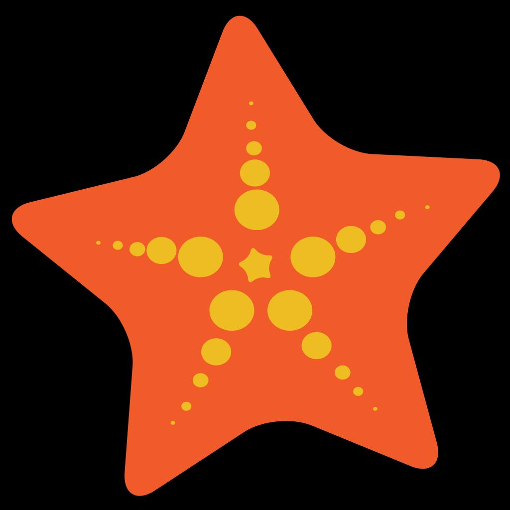Starfish Label SVG Clip arts