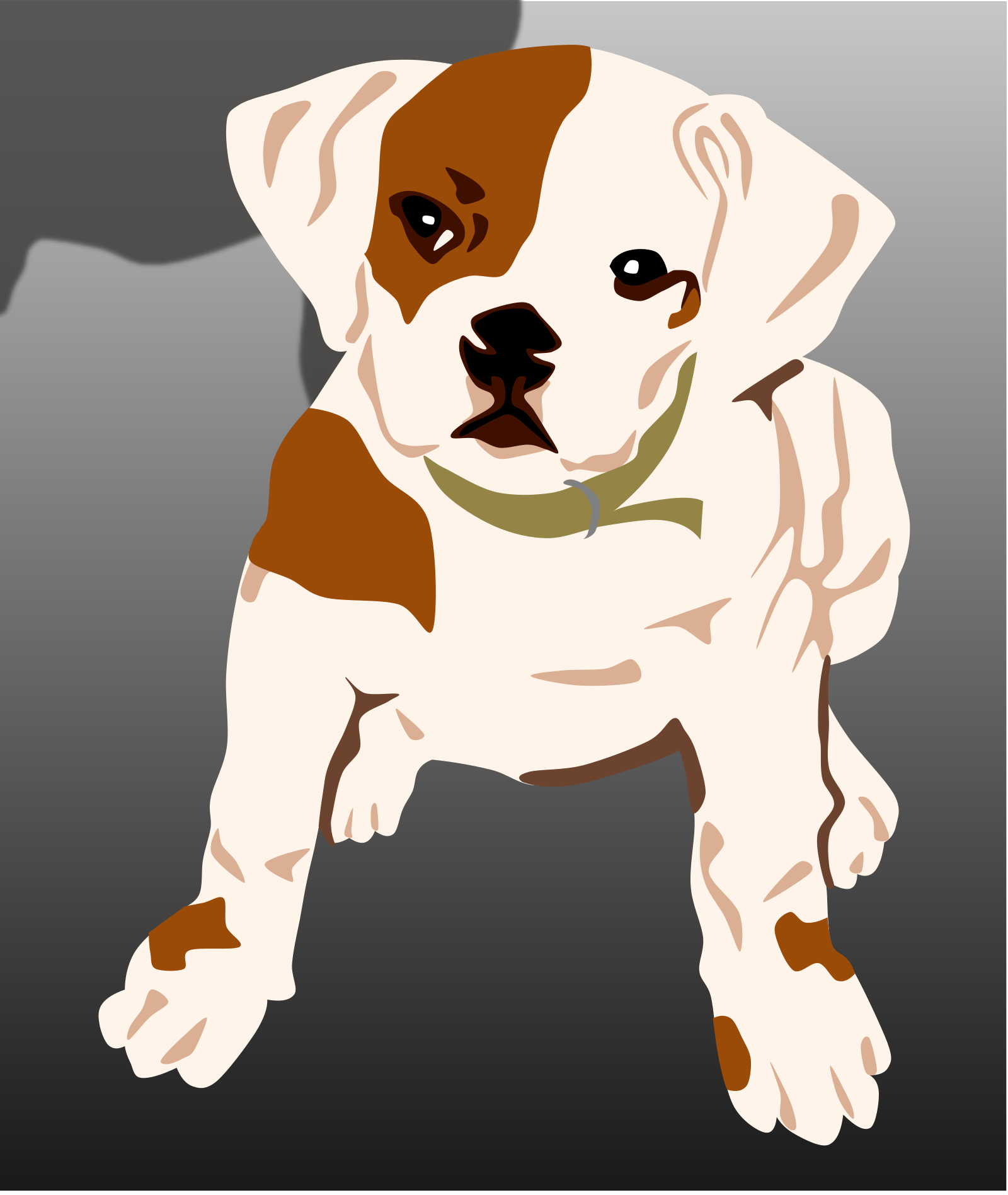 Bulldog Puppy SVG Clip arts