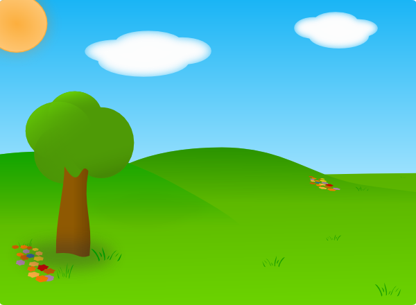 Cartoon Landscape SVG Clip arts