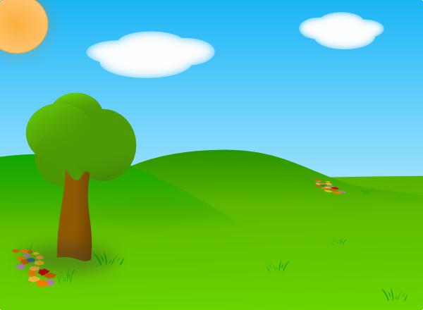 Cartoon Landscape SVG Clip arts