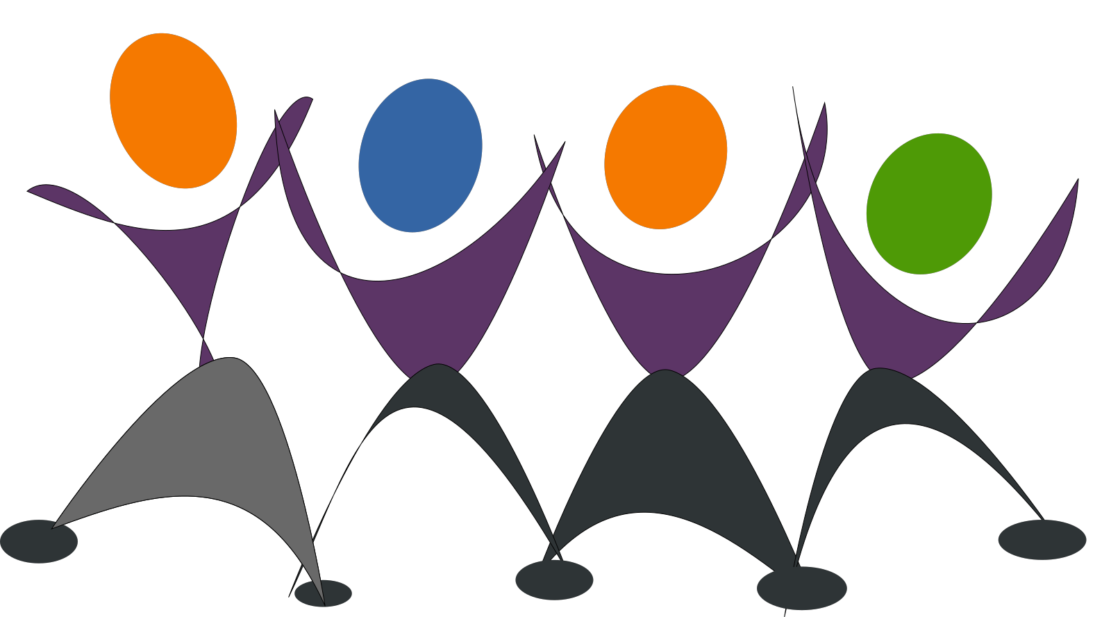 Dancing Skeletons SVG Clip arts