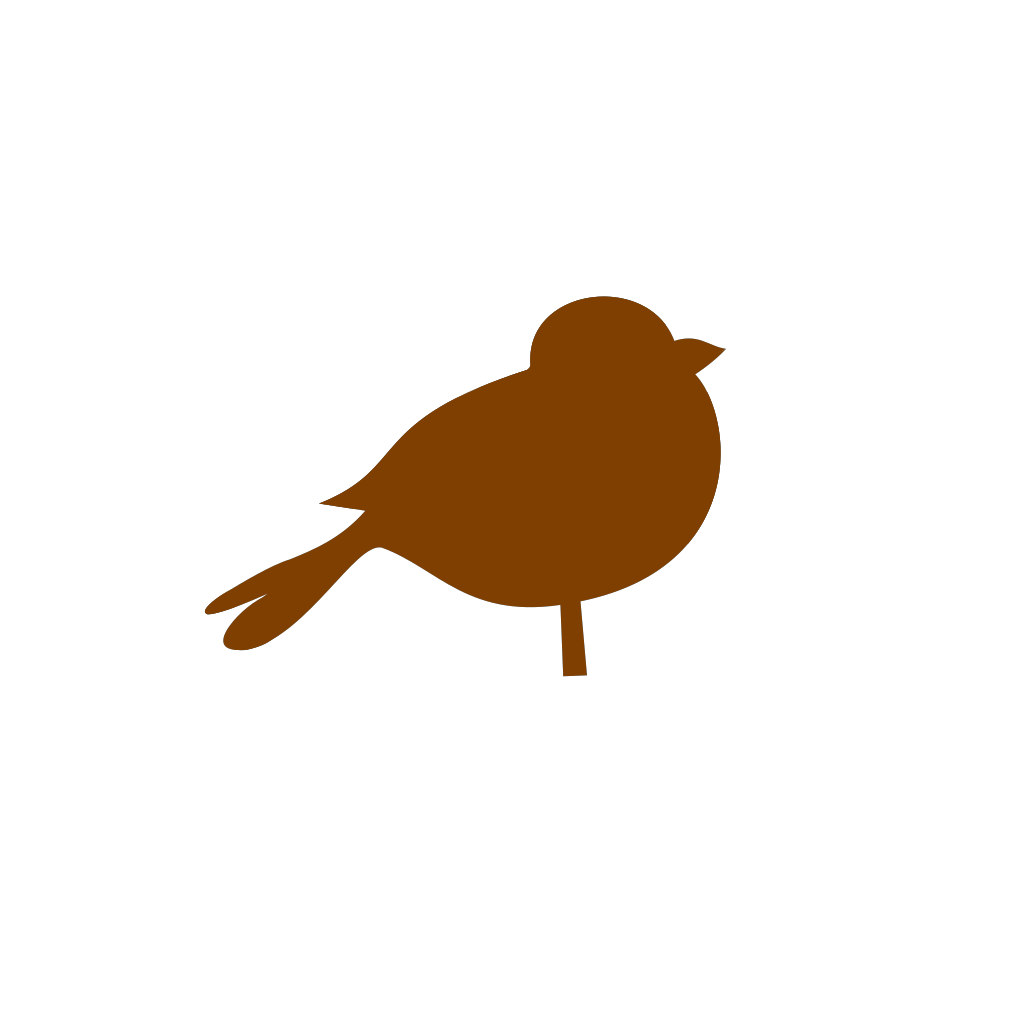 Brown Chubby Bird SVG Clip arts