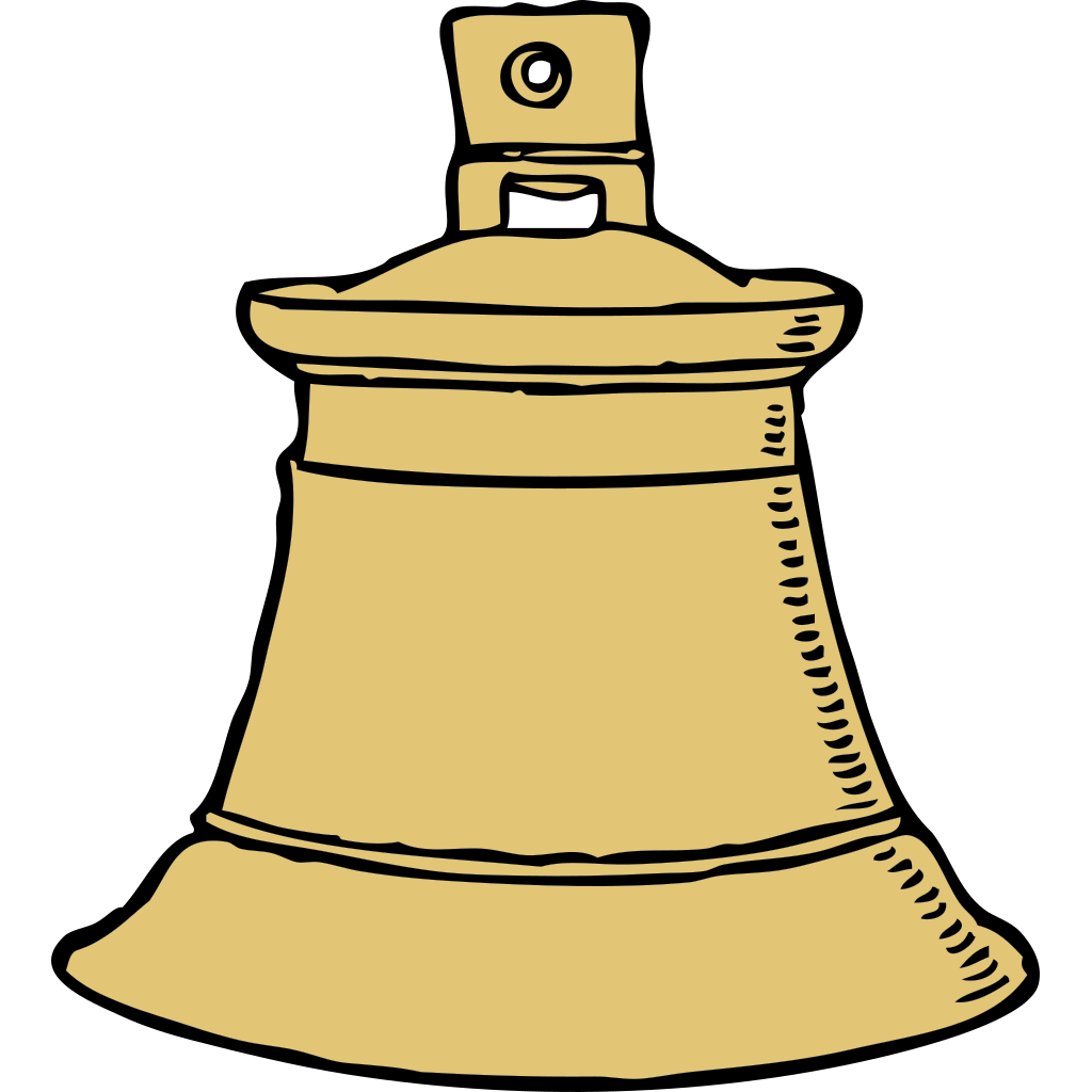 Gold Bell SVG Clip arts