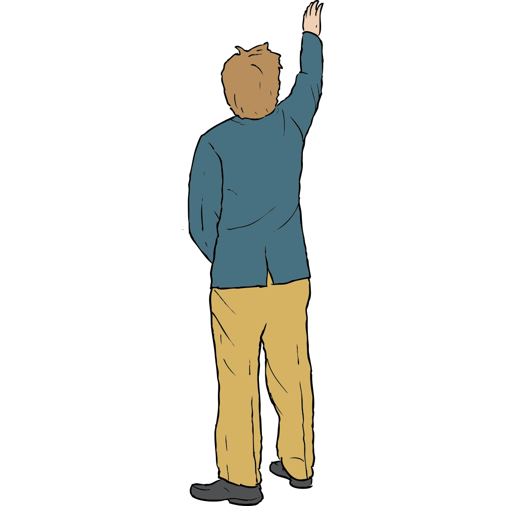 Man Reaching Up SVG Clip arts