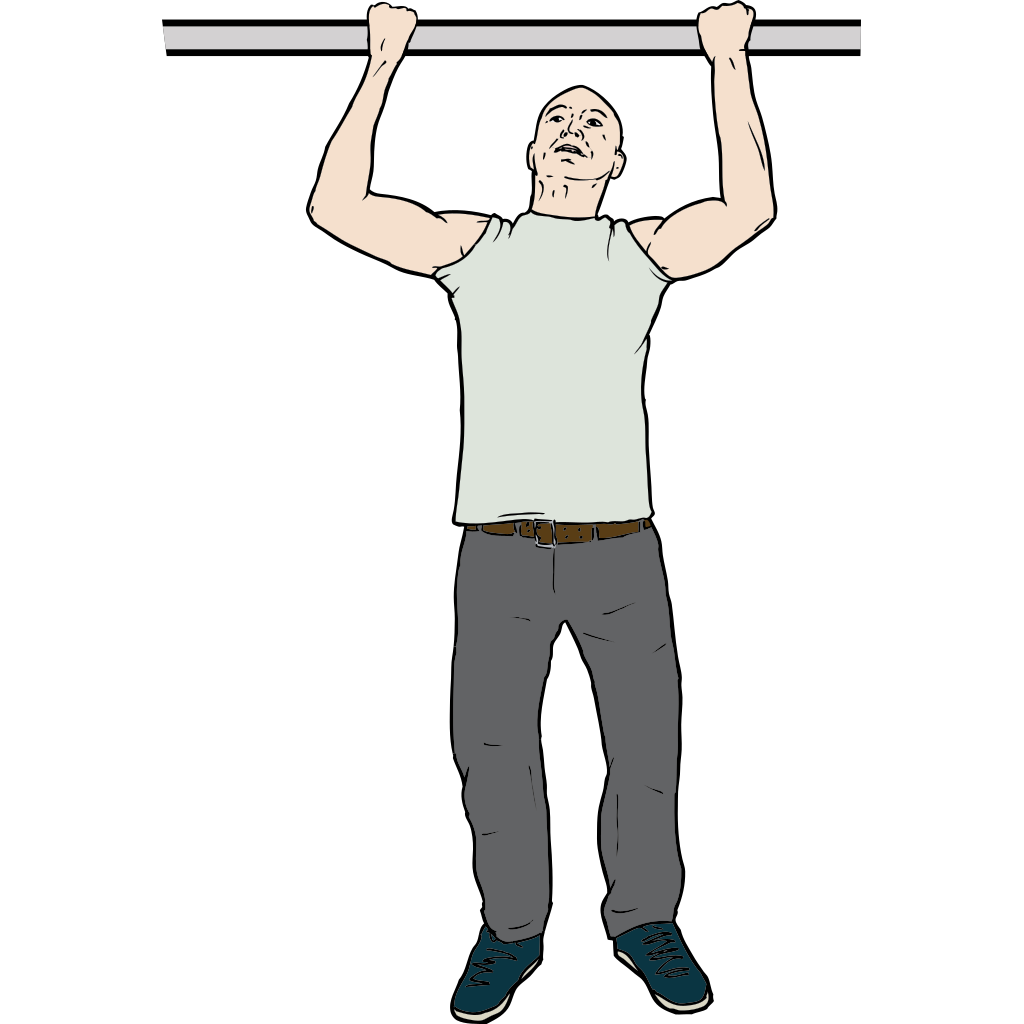 Chin Up Man SVG Clip arts
