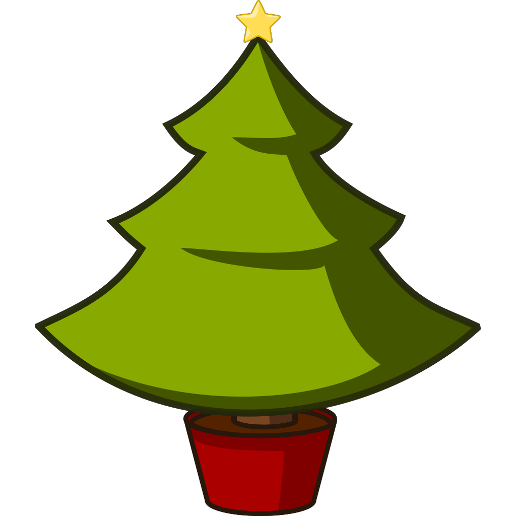 Christmas Tree SVG Clip arts