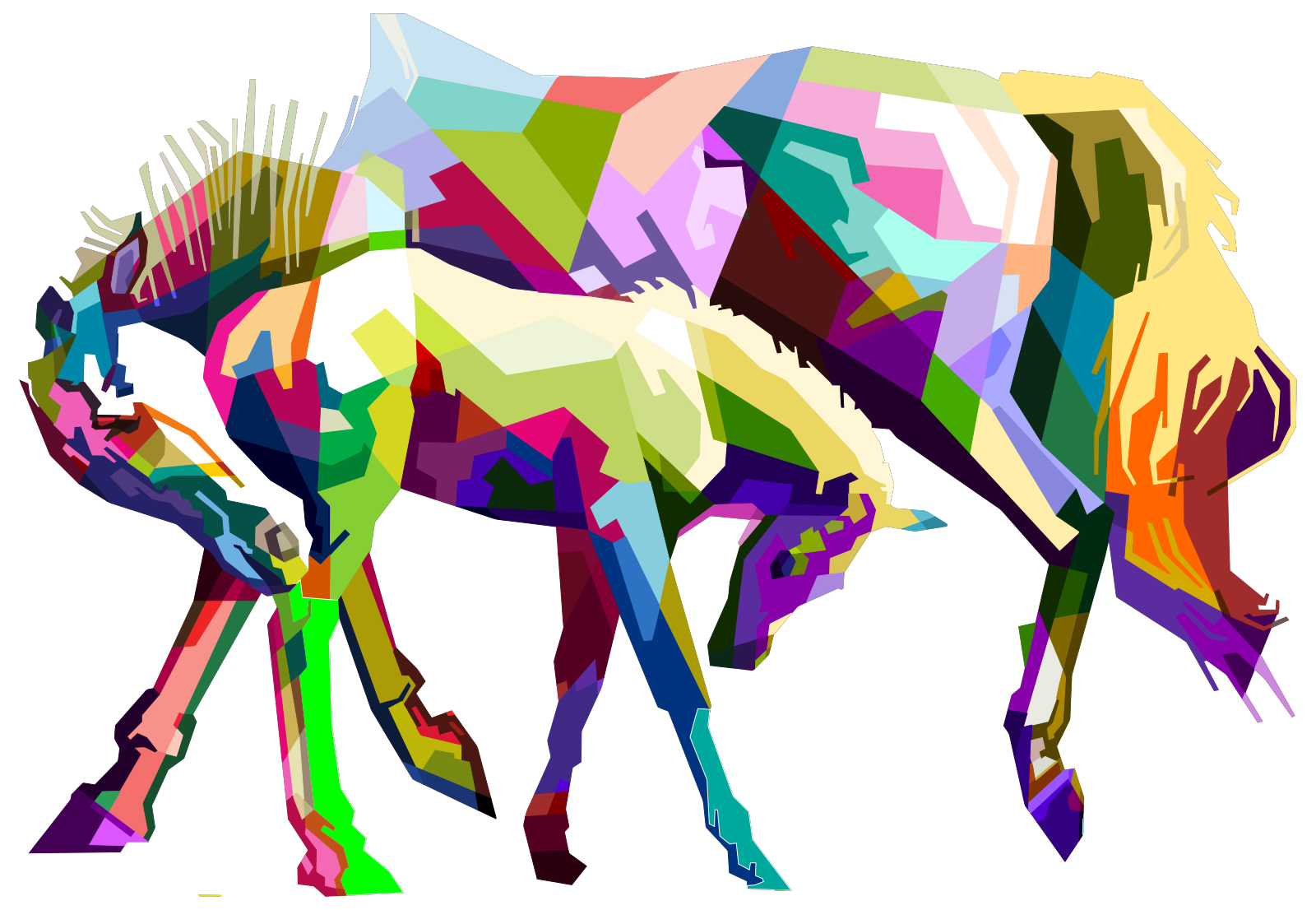 Mare And Foal SVG Clip arts