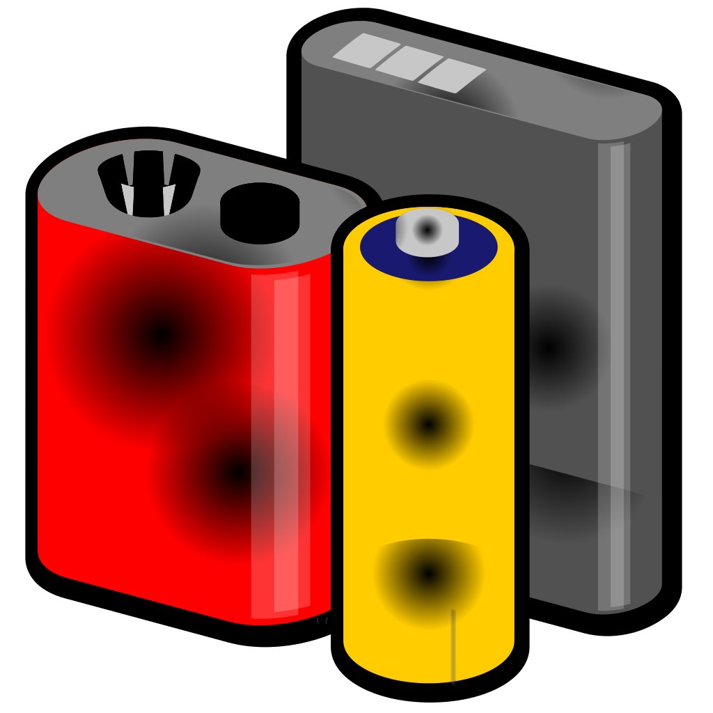 Batteries SVG Clip arts