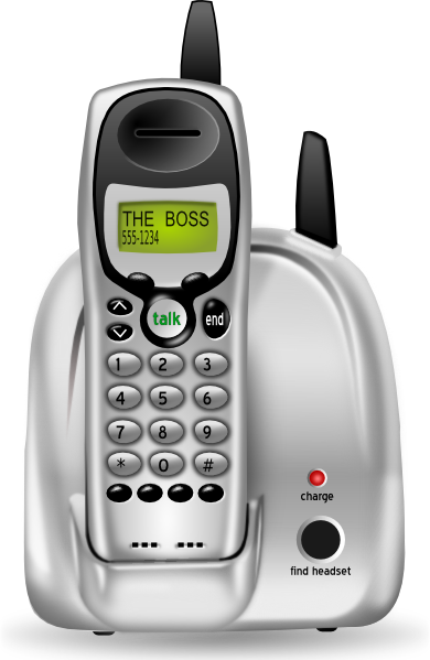Cordless Phone SVG Clip arts