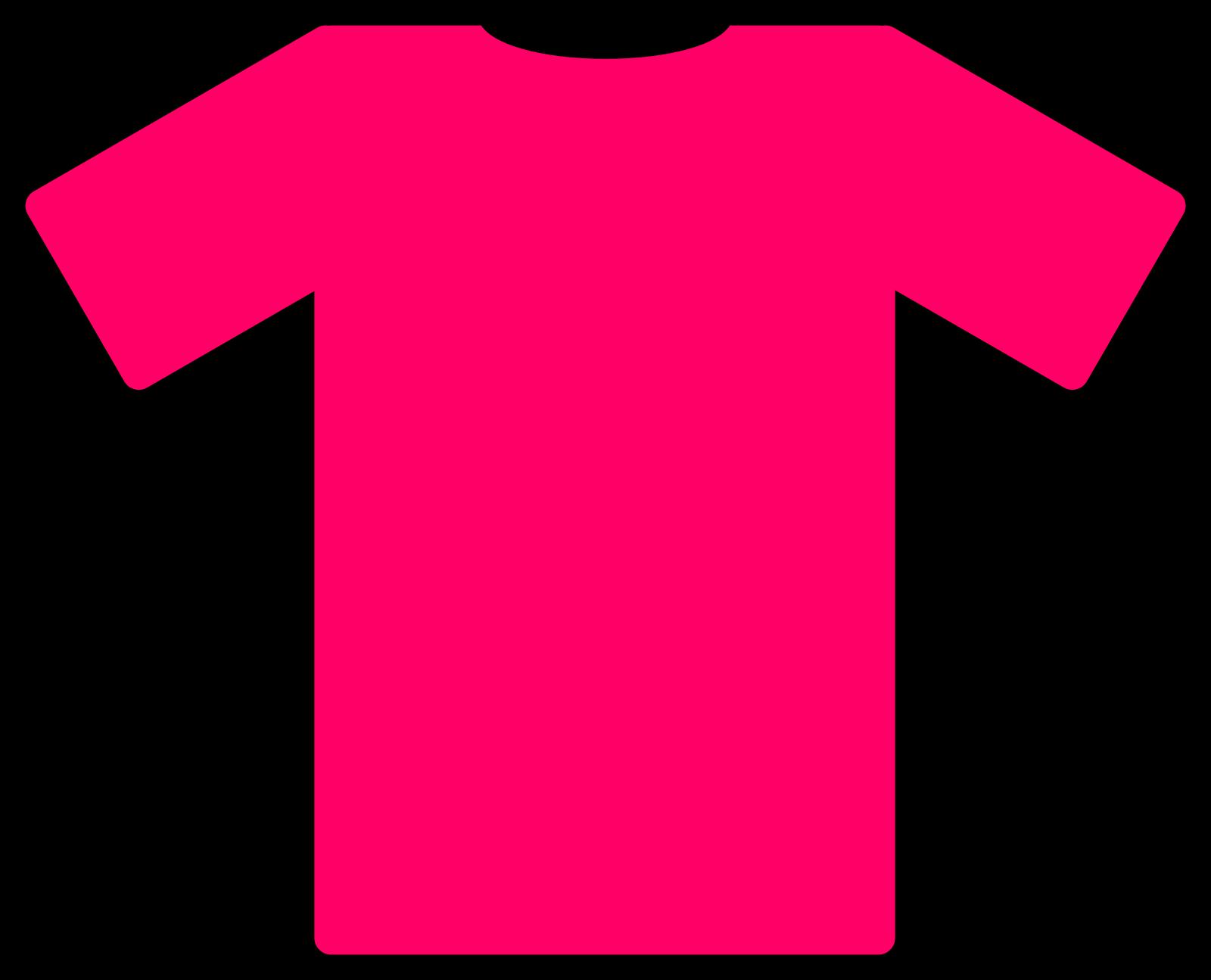 Pink T Shirt SVG Clip arts