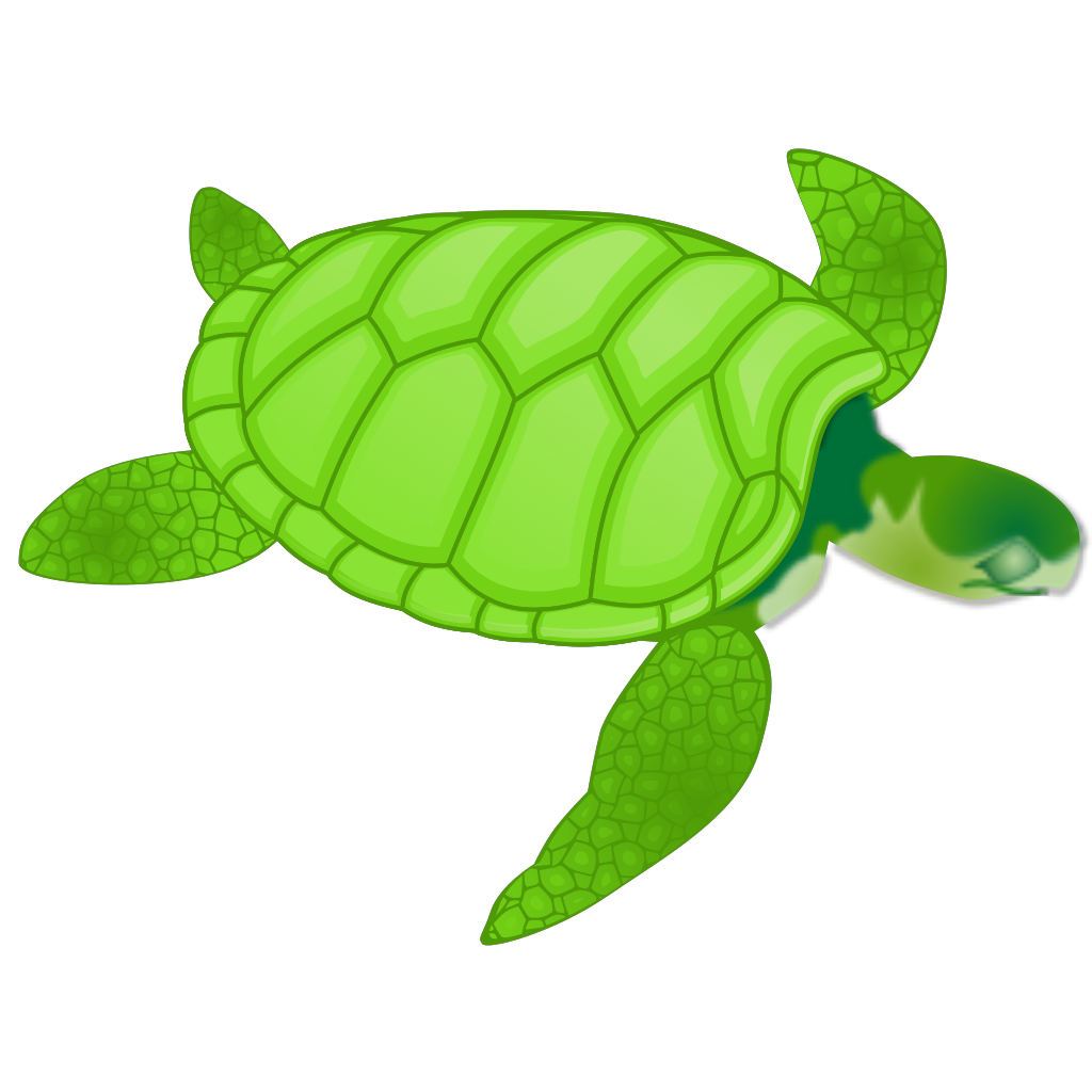 Green Sea Turtle SVG Clip arts