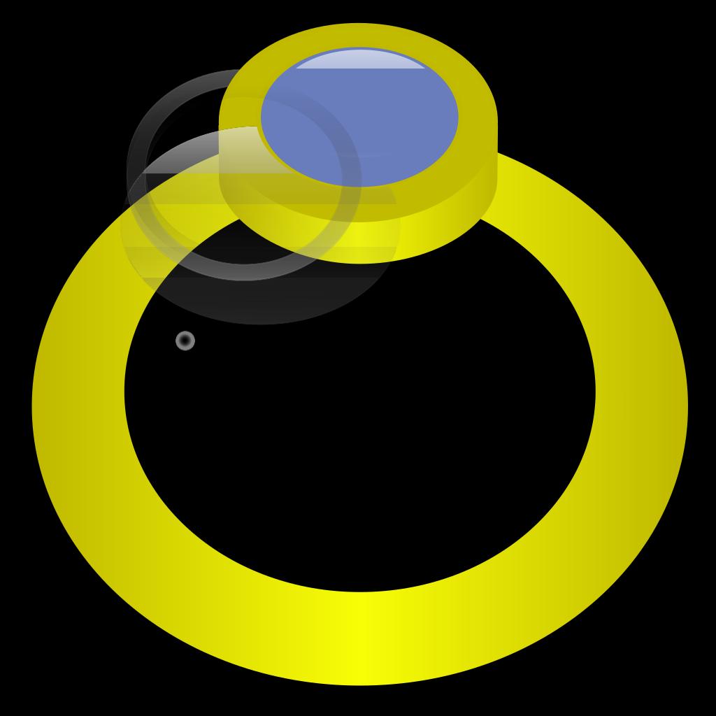 Golden Ring With Gem SVG Clip arts