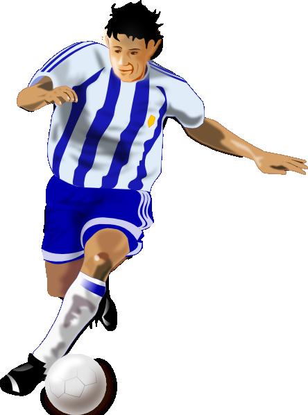Futbolista Soccer Player SVG Clip arts