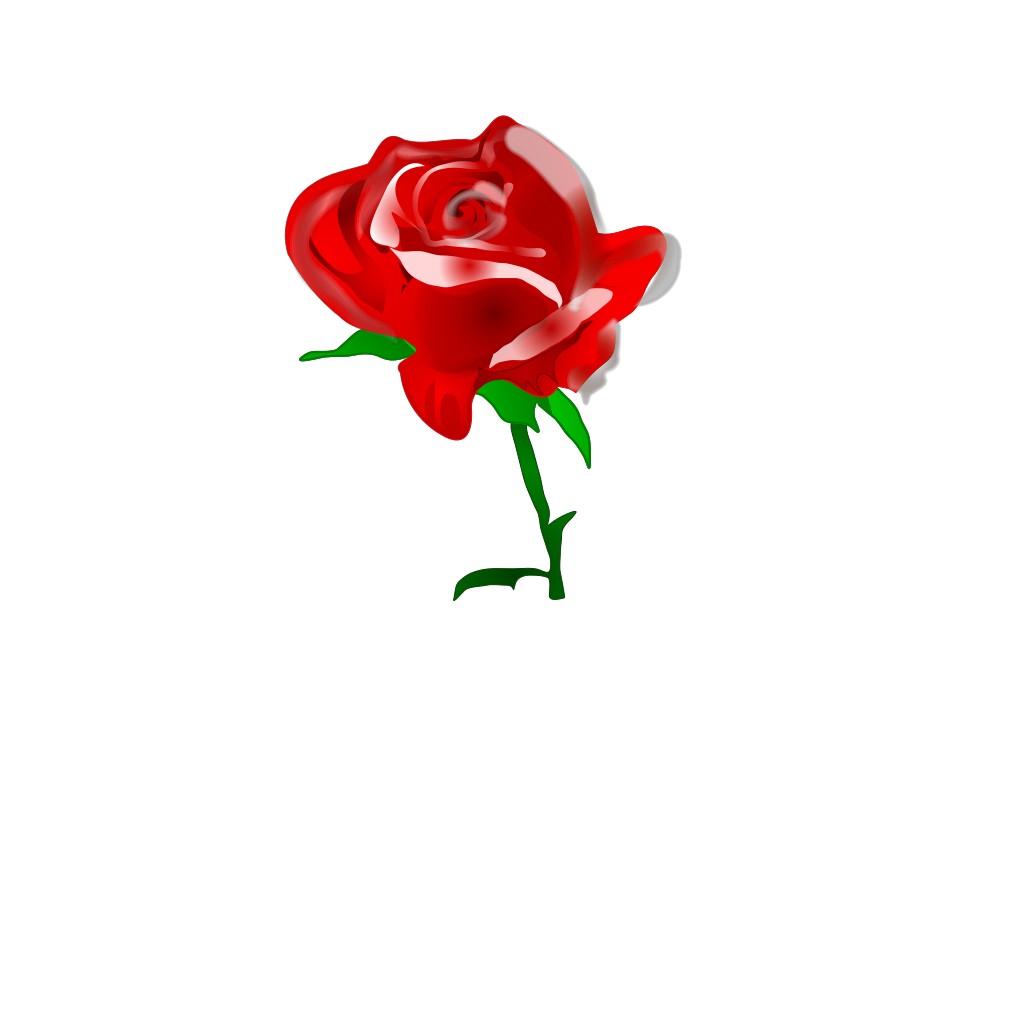Red Rose SVG Clip arts