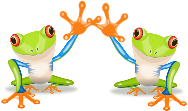 Two Frogs SVG Clip arts
