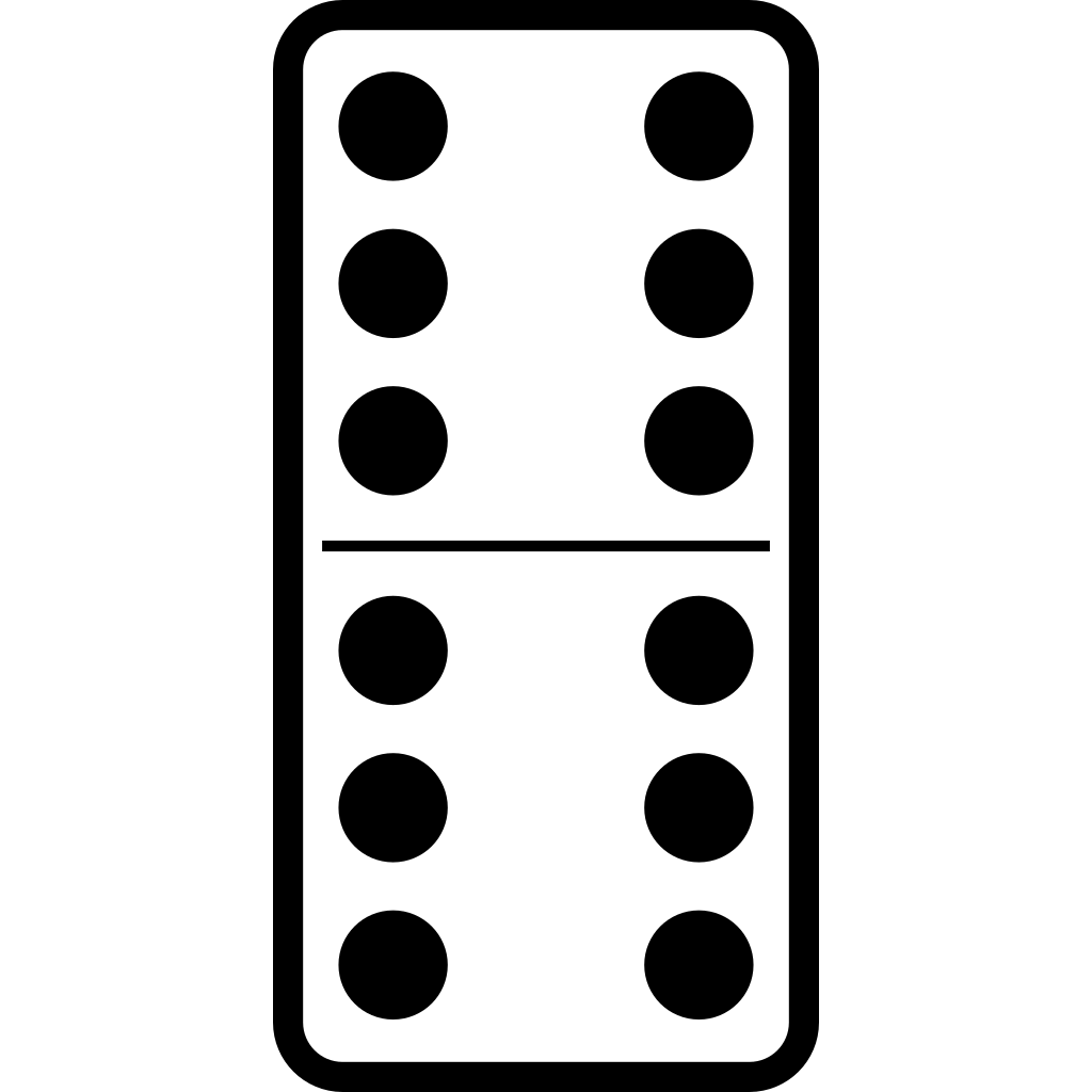 Domino Set 27 SVG Clip arts