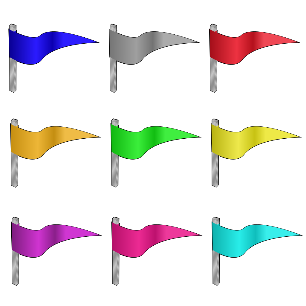 Colored Flags SVG Clip arts