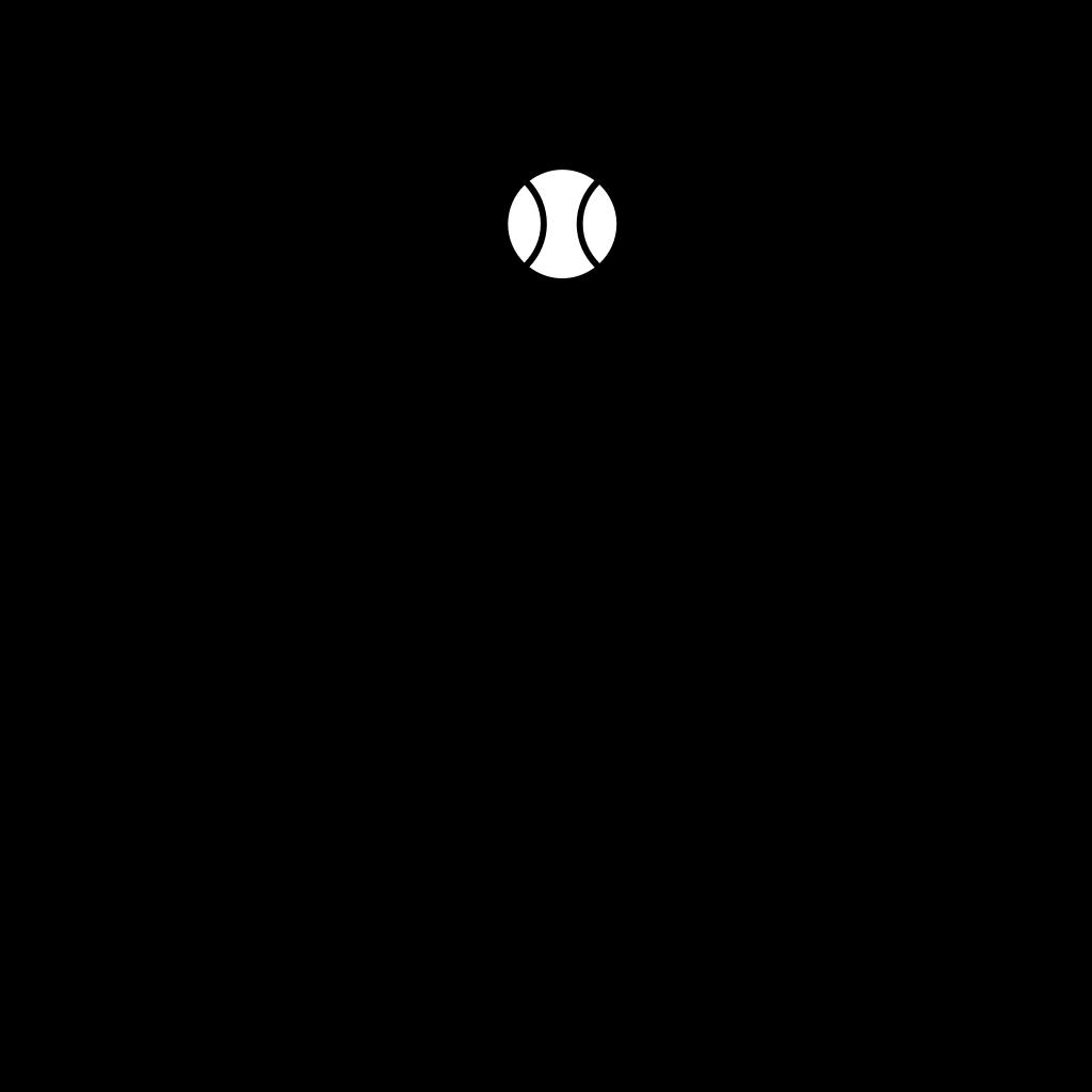 Tennis Racket And Ball SVG Clip arts