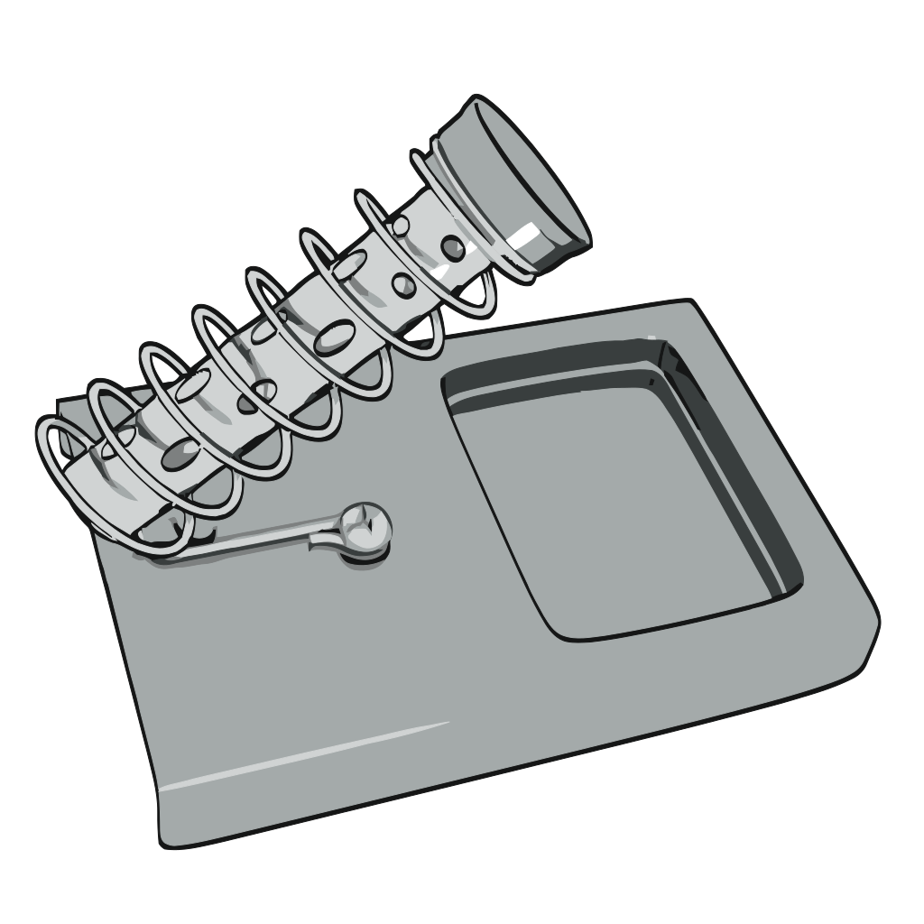 Hexdoll Soldering Iron Stand SVG Clip arts