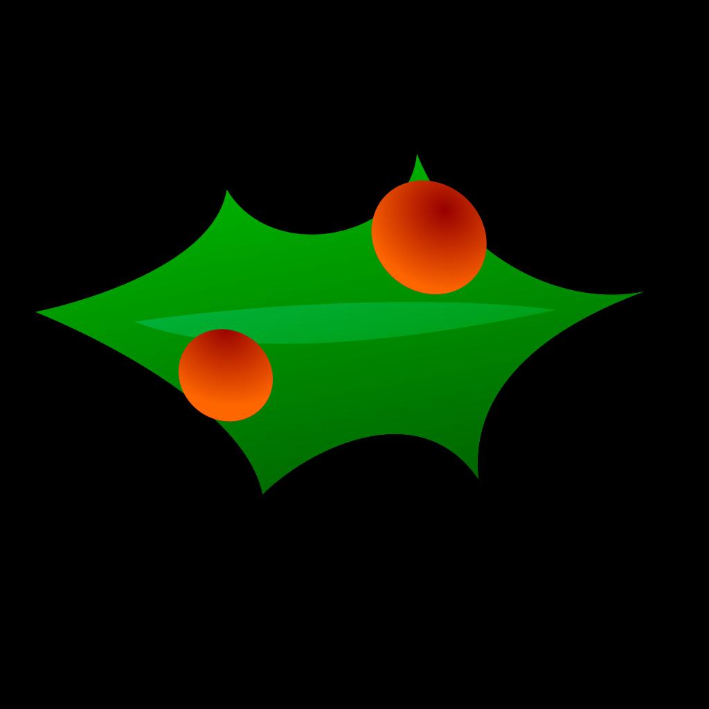 Christmas Leaf Decoration SVG Clip arts