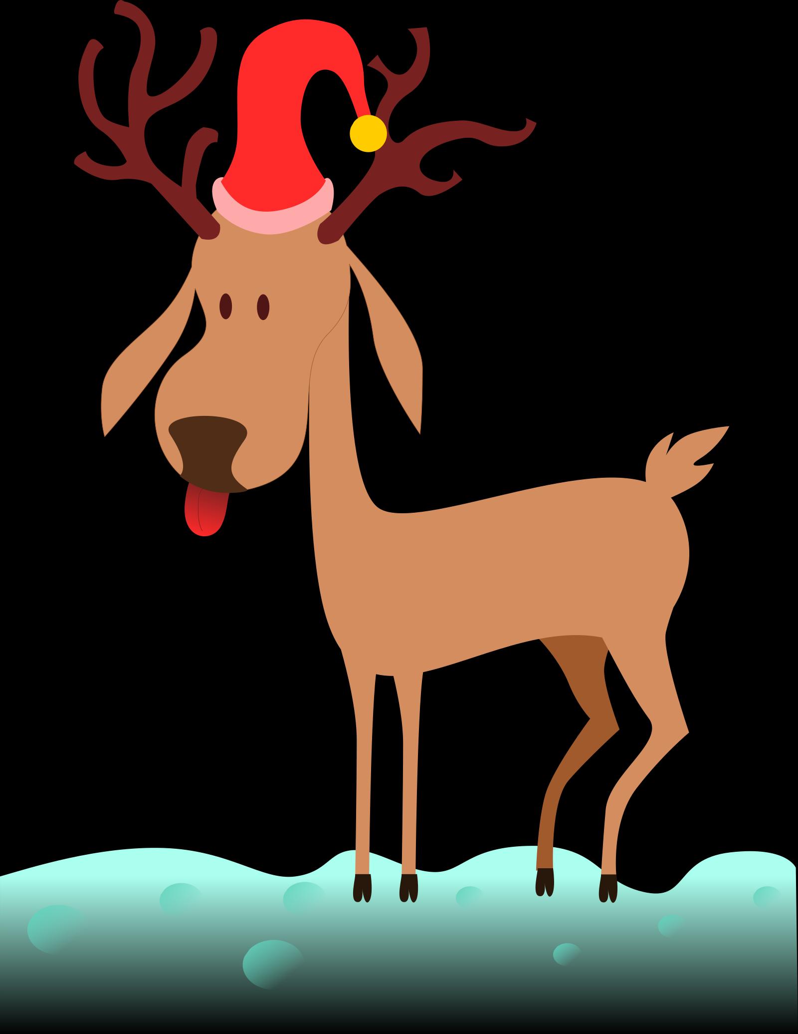 Reindeer Outline SVG Clip arts