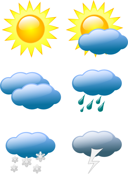Hail Weather Symbols SVG Clip arts