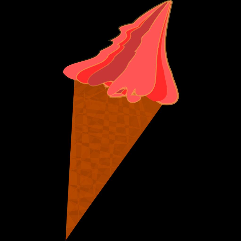 Wild Berry Ice Cream Cone SVG Clip arts