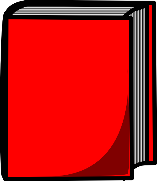 Blue Harcover Book SVG Clip arts