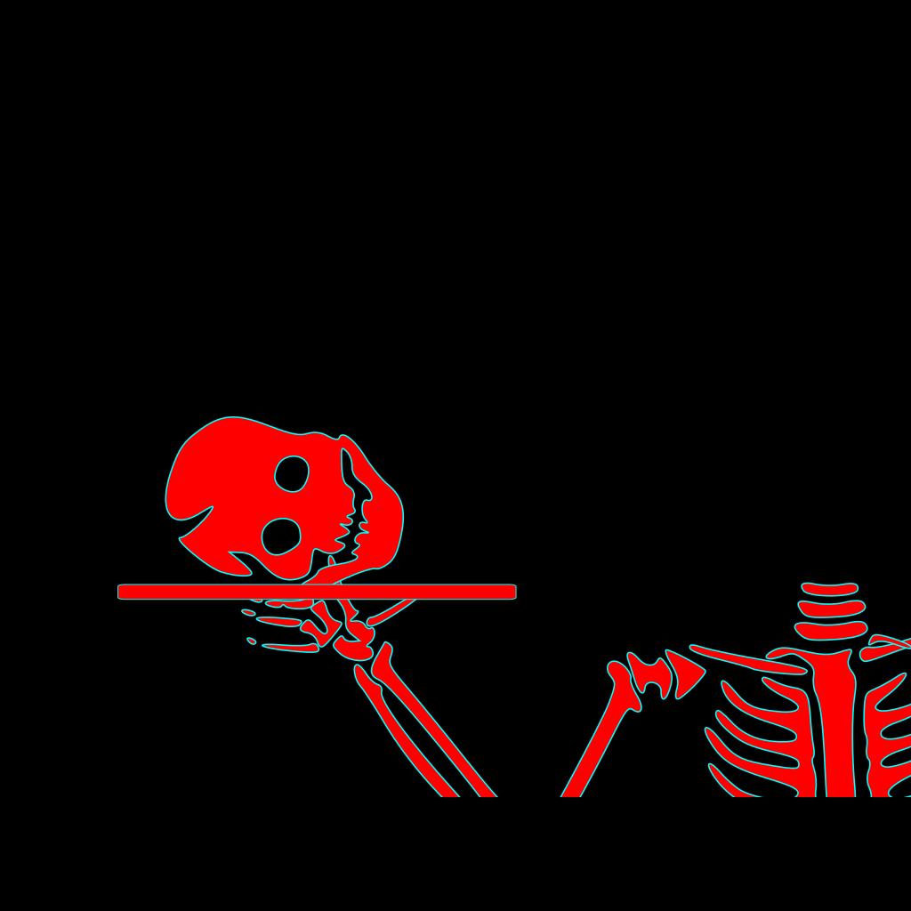 Stacked Skeleton Heads SVG Clip arts
