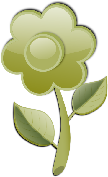 Green Flower SVG Clip arts