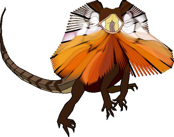 Necked Lizard Dragon SVG Clip arts