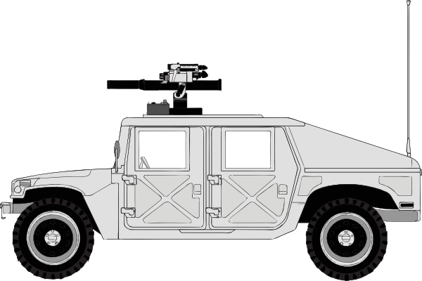 Armed Hummer SVG Clip arts