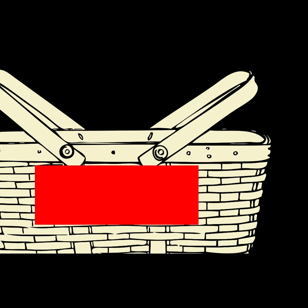 Quart Basket SVG Clip arts