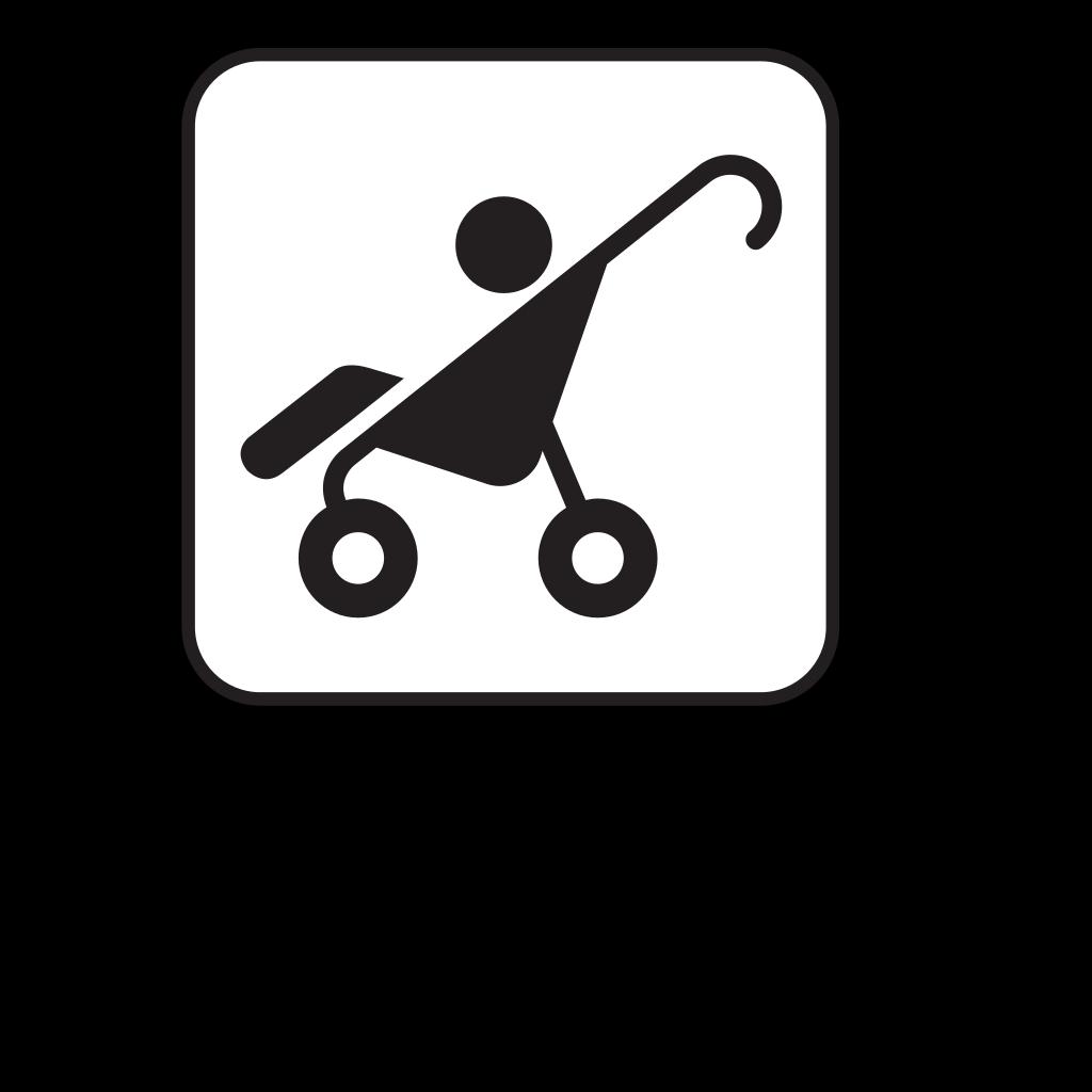 Stroller White SVG Clip arts