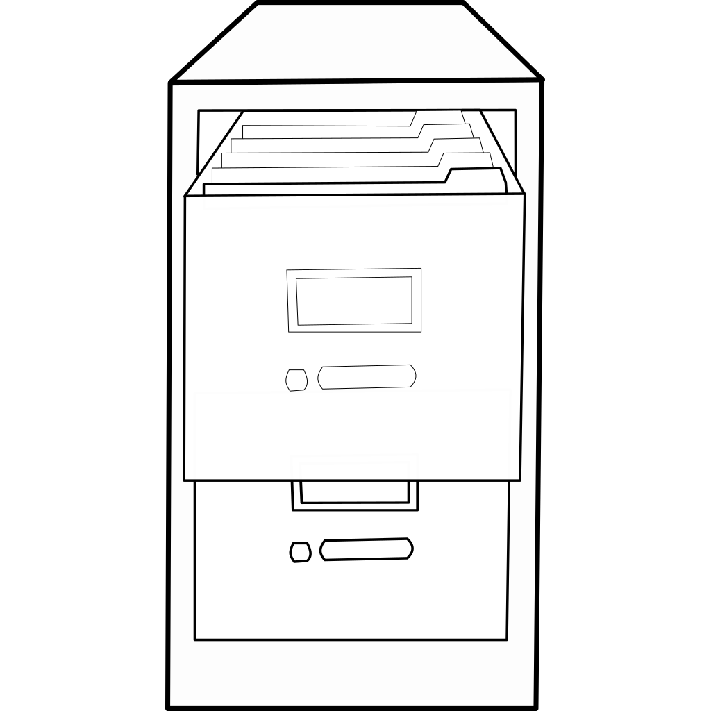 Open File Cabinet 2 SVG Clip arts