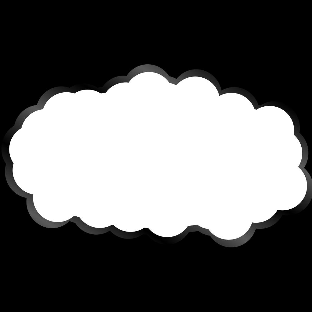 White Cloud SVG Clip arts