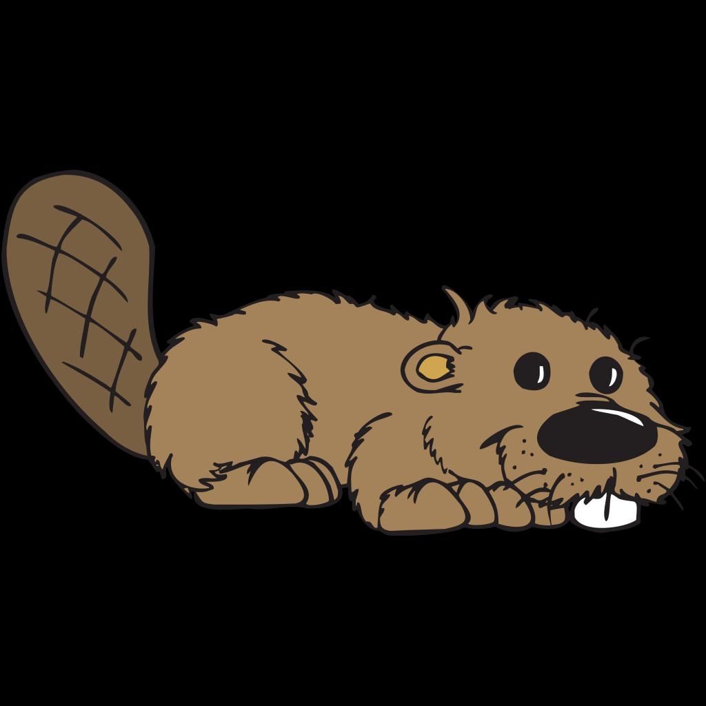 Cartoon Beaver SVG Clip arts