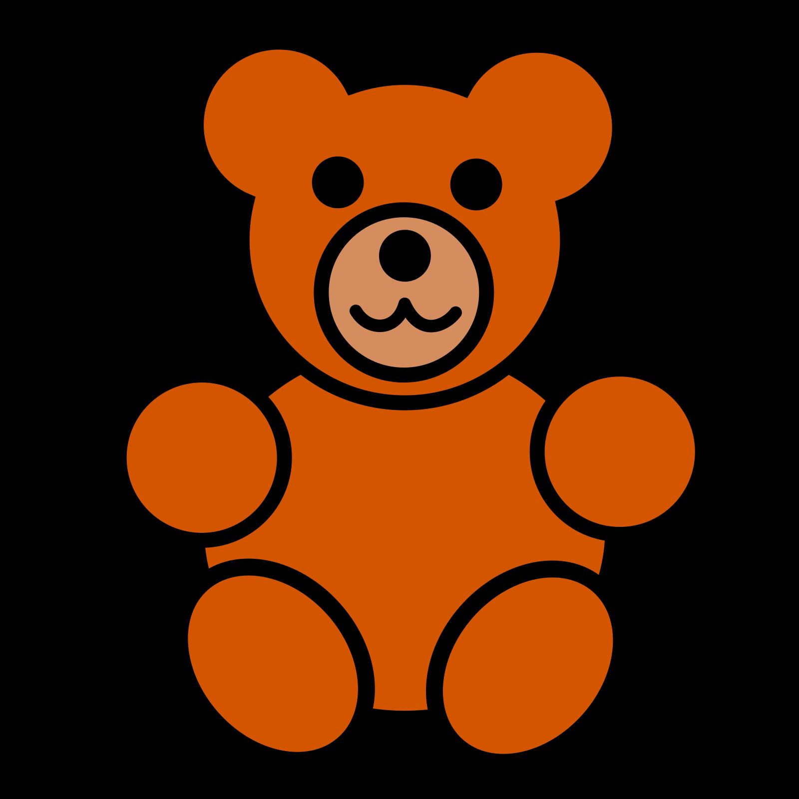 Cartoon Bear SVG Clip arts