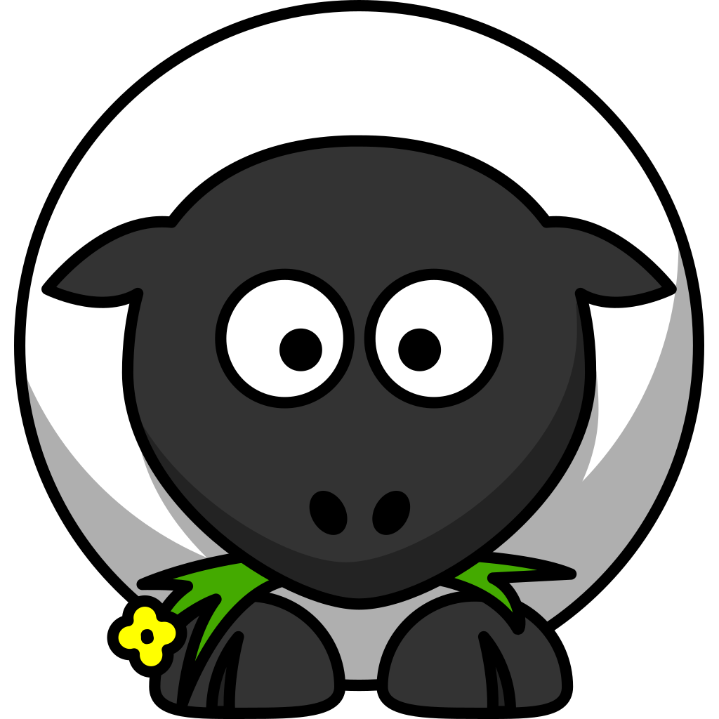Cartoon Sheep SVG Clip arts