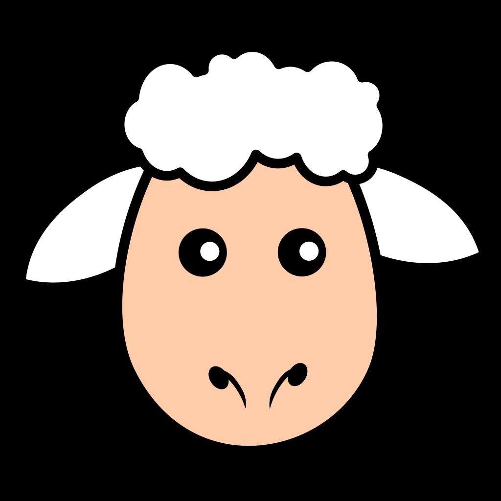 Simple Cartoon Sheep SVG Clip arts