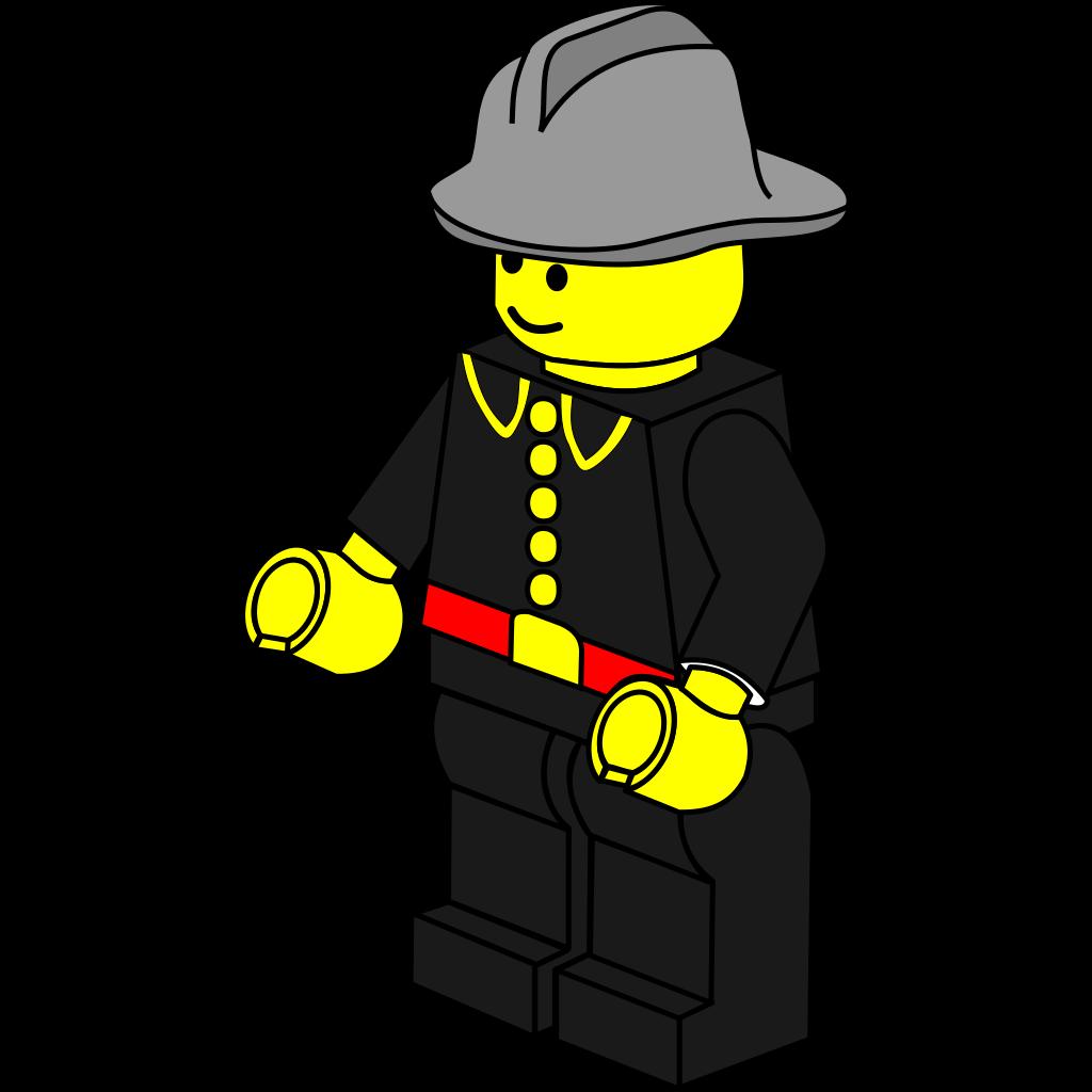Lego Town Fireman SVG Clip arts