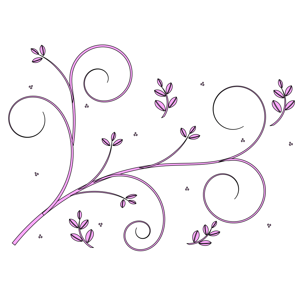 Floral Design Blue svg