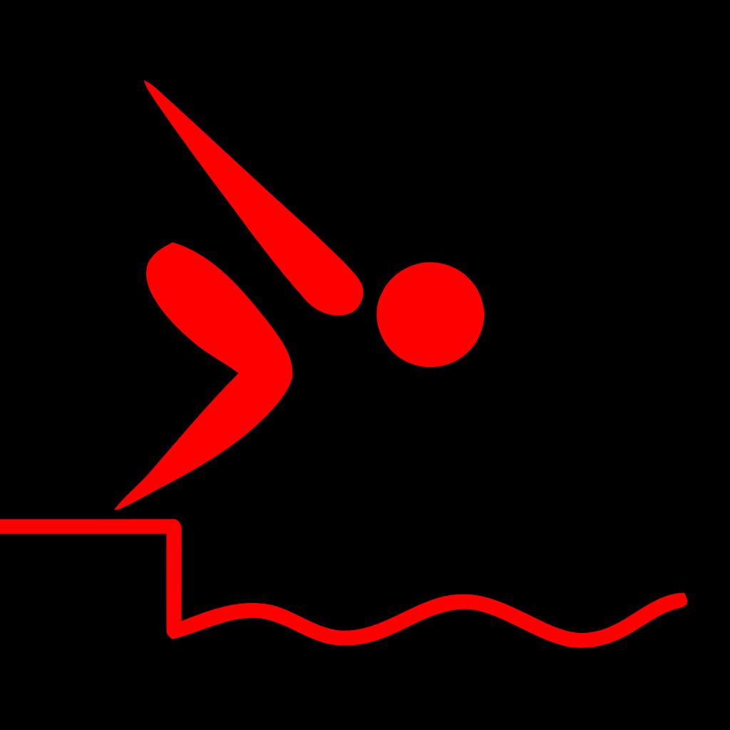 Swan Swimming SVG Clip arts