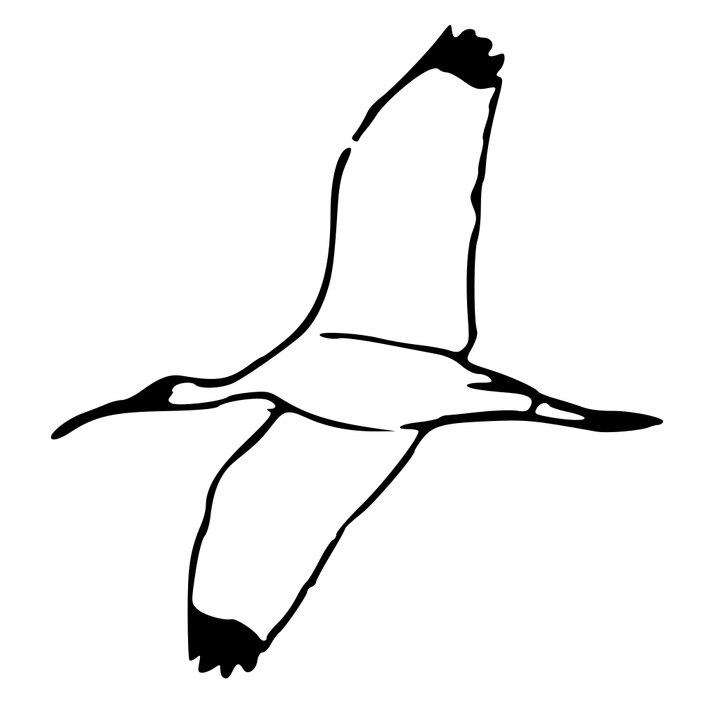 Wood Ibis 2 SVG Clip arts
