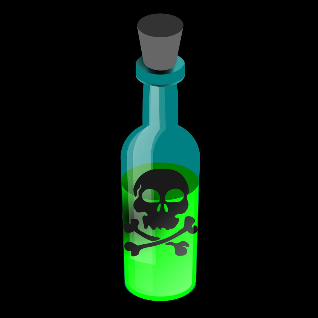 Poison Bottle SVG Clip arts