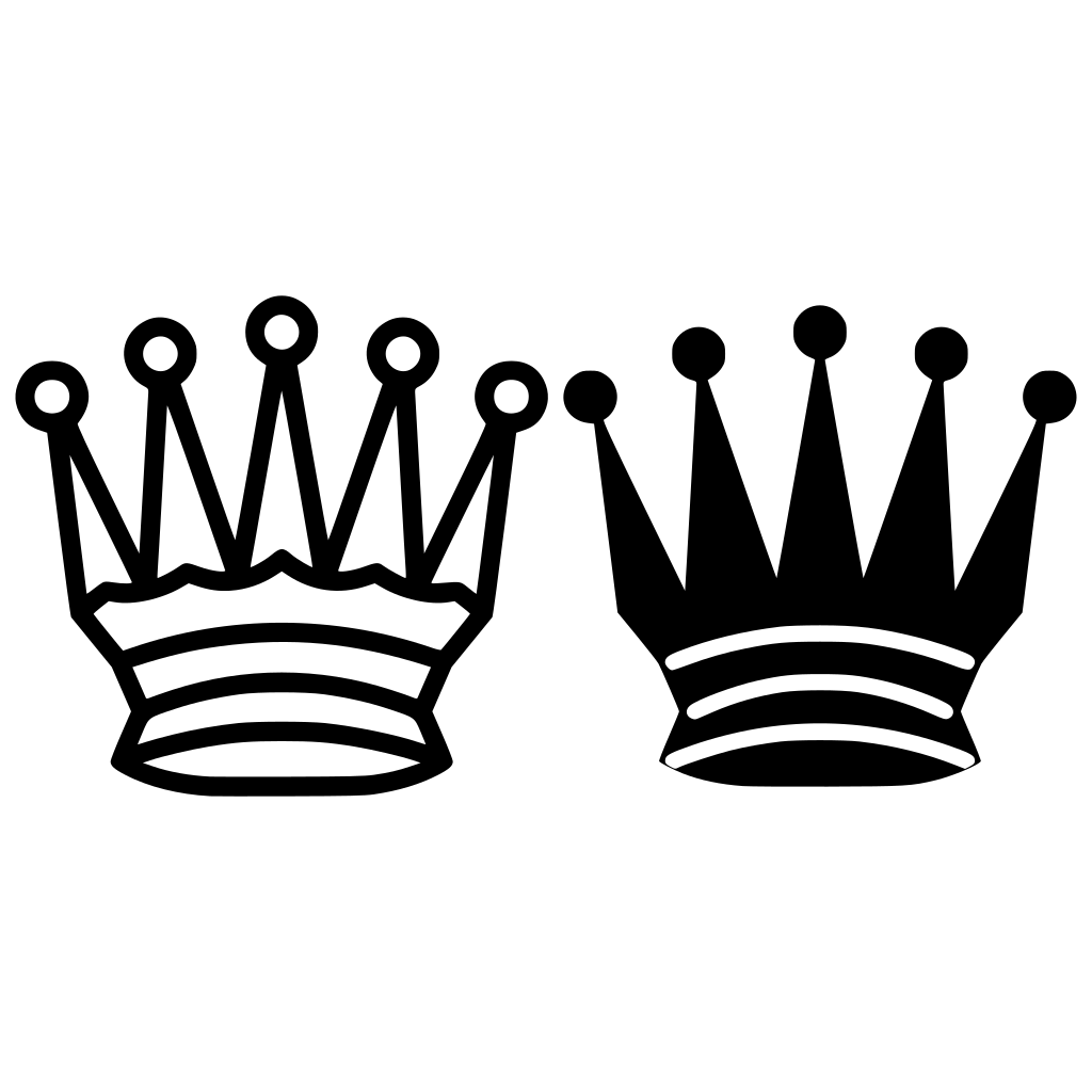 Chess Queen Crown SVG Clip arts