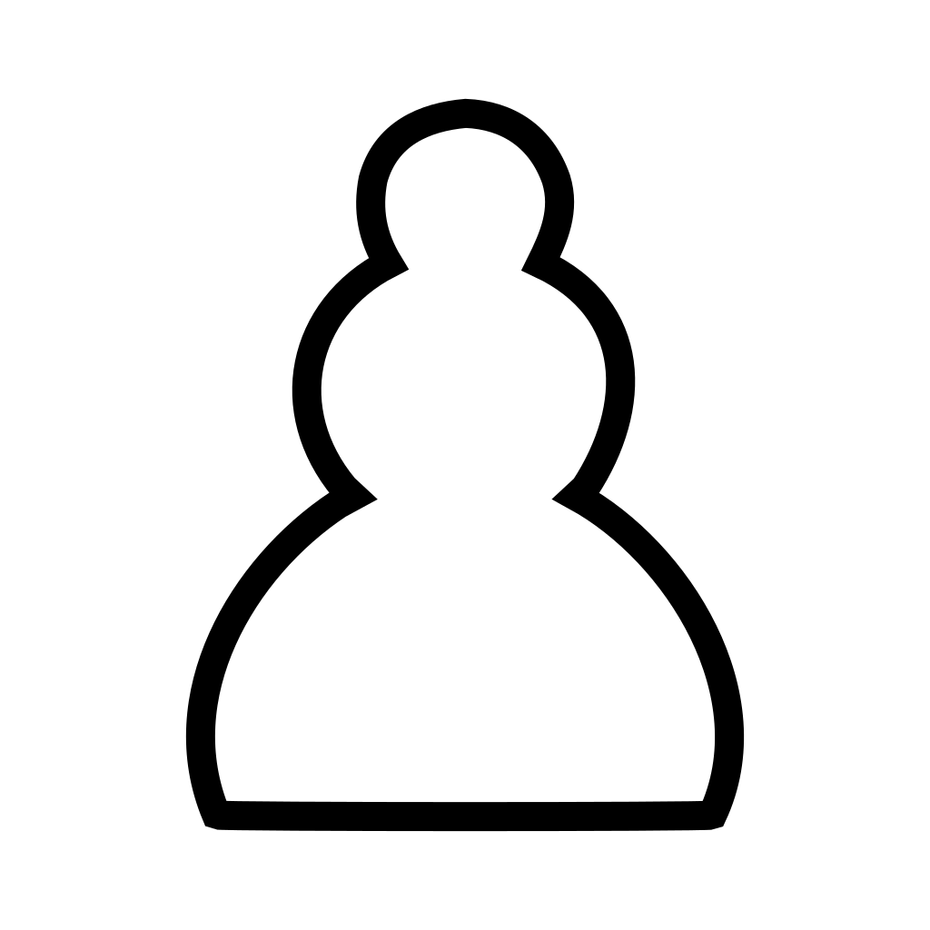 Chess White Pawn Piece SVG Clip arts
