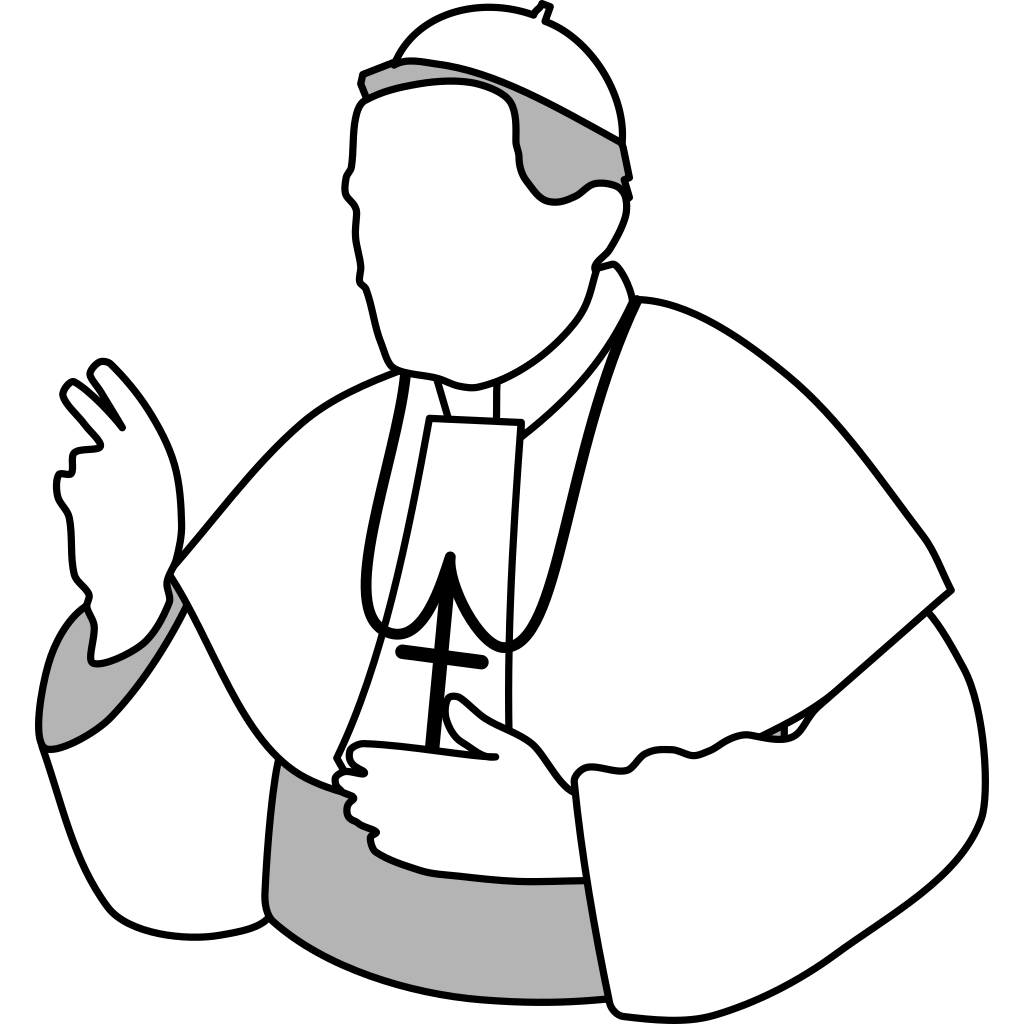 Pope SVG Clip arts